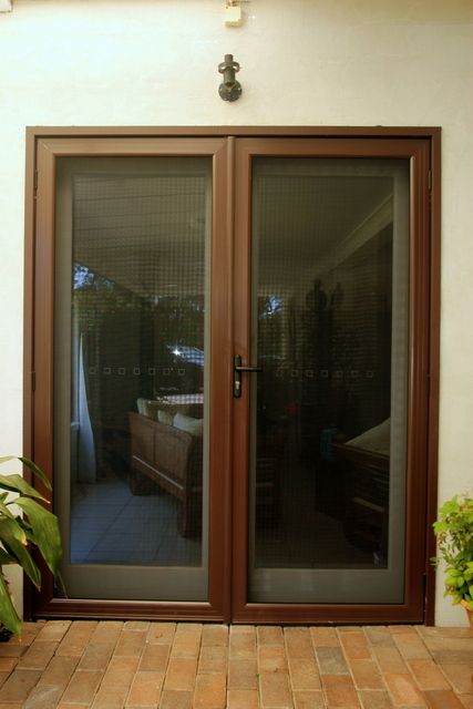 Security french hinged screen doors for Hinged screen doors for french doors