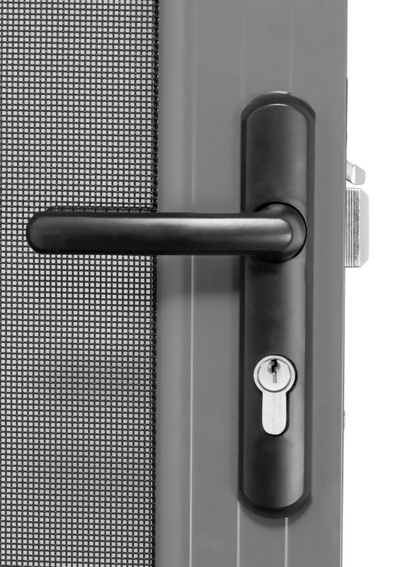 security hinged screen door 316 marine grade stainless steel mesh. Black Bedroom Furniture Sets. Home Design Ideas