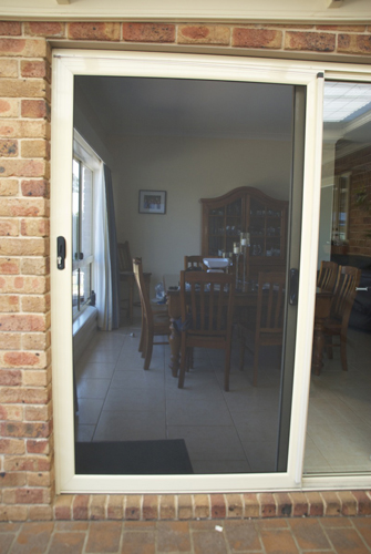 Sliding Security Screen Door Galvanised Mesh